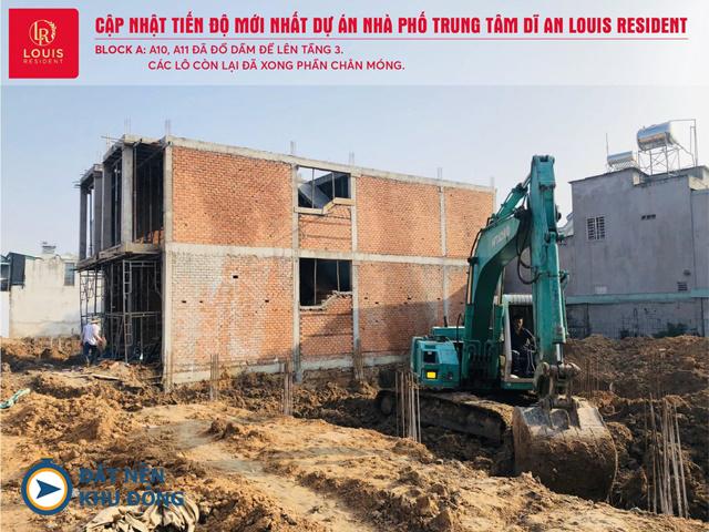 tiến độ dự án louis resident