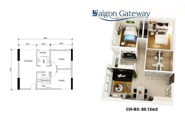 sang nhượng căn hộ Saigon gateway