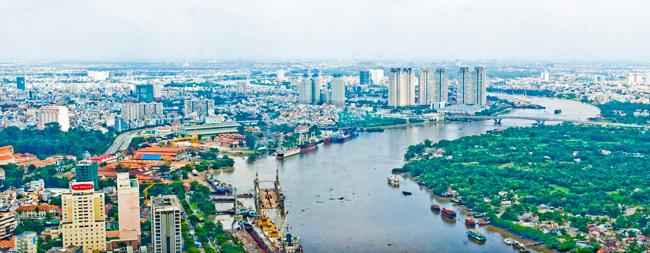 view sông Sài Gòn- đất nền HIệp Bình Chánh