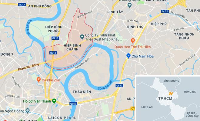 map Hiệp Bình Chánh