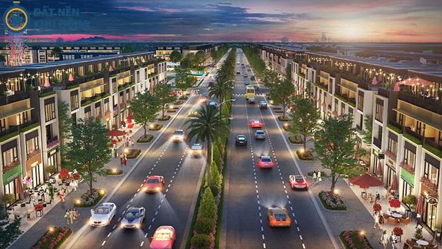 Đại lộ Gold Silk dài 2m, rộng 6 làn xe tại dự án
