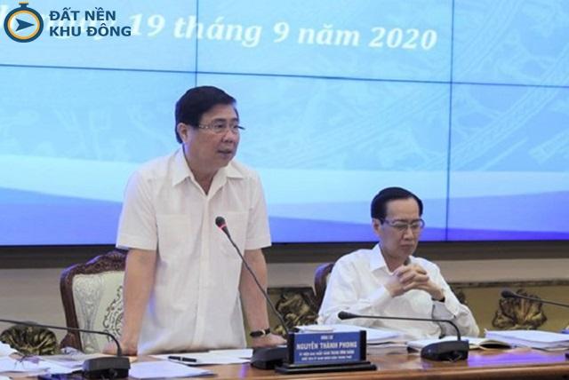 Chủ tịch UBND TP.HCM Nguyễn Thành Phong công bố tại UBTVQH sáng 31/12