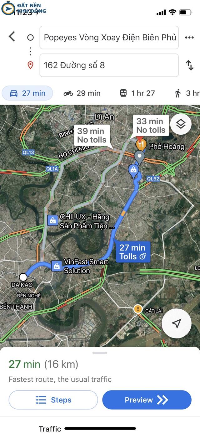 Vị trí đất ngay trung tâm TP Thủ Đức - Cách Quận 1 30 phút