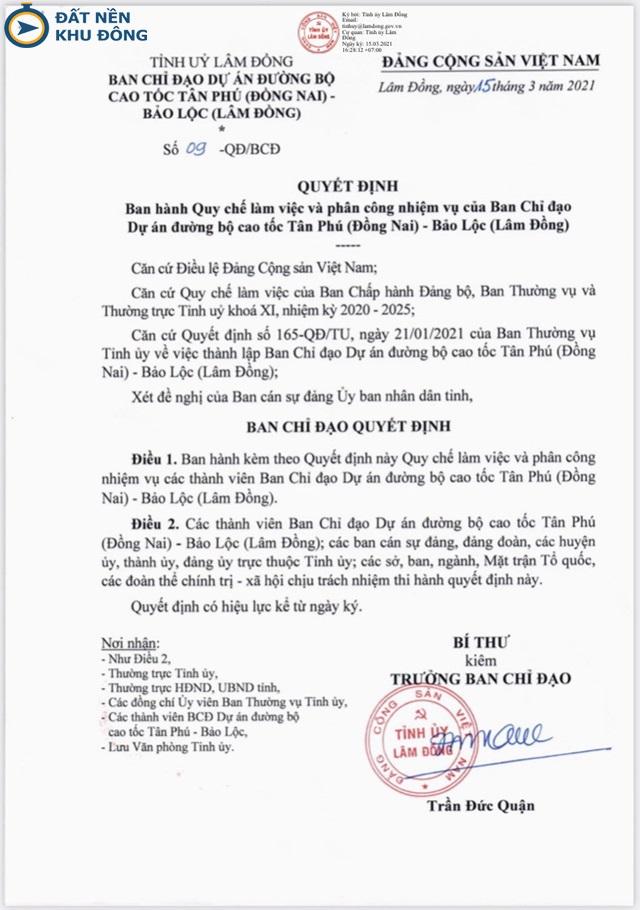 Quyết định khởi công cao tốc Tân Phú - Bảo Lộc giai đoạn 2021 - 2025